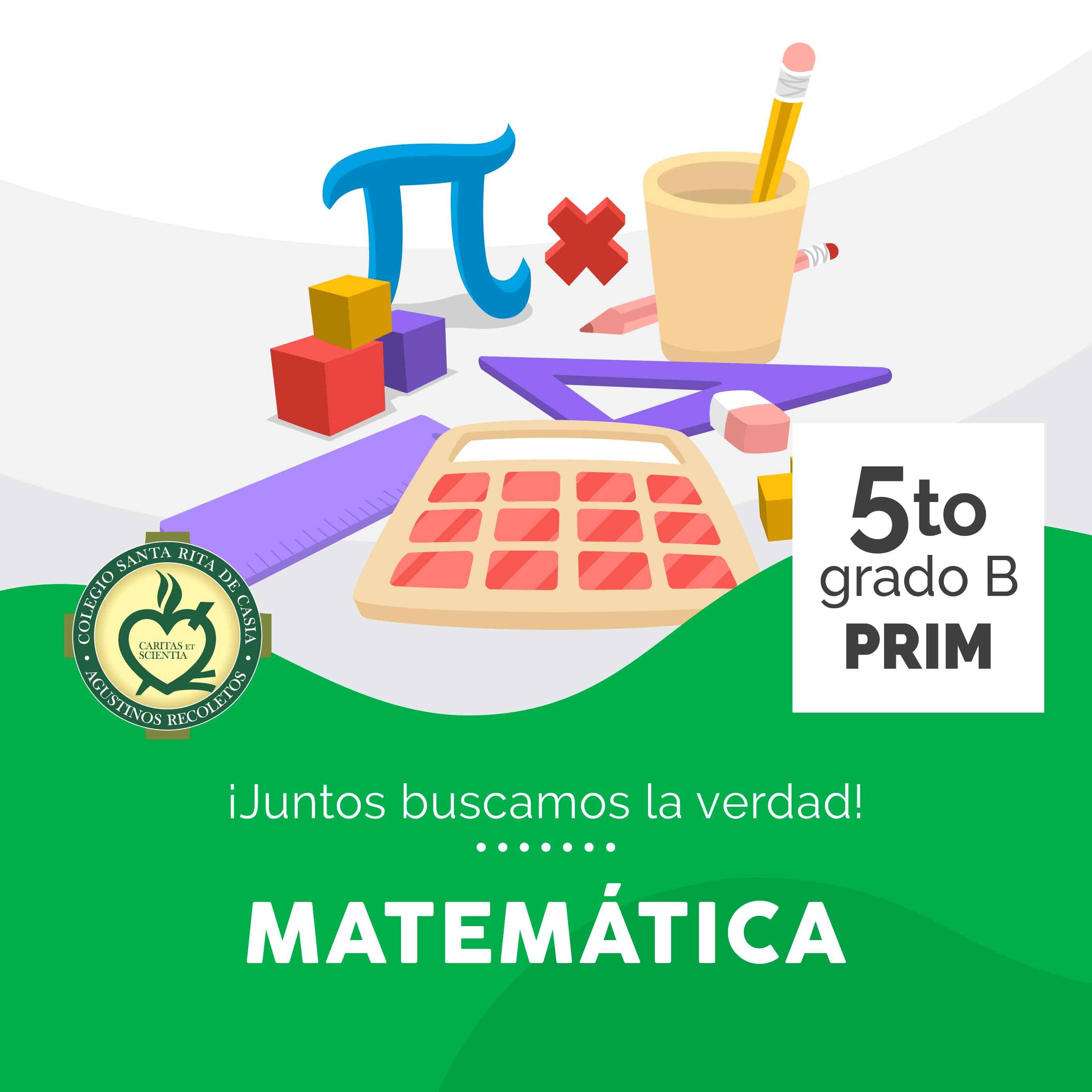 Matemática 5to Grado B